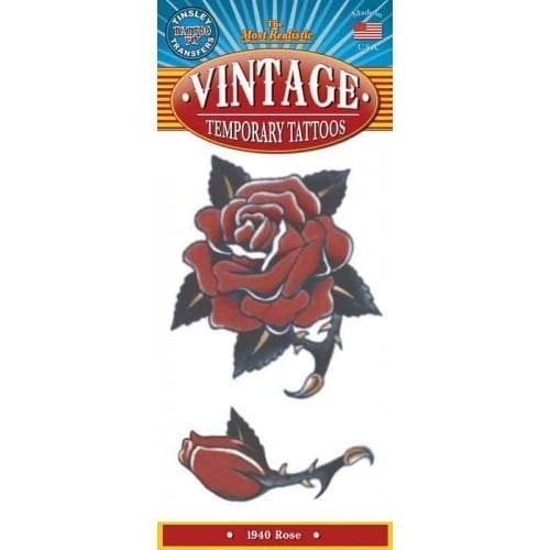 Tattoo vintage rose 1940