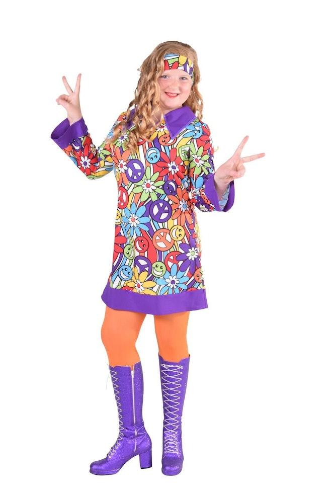 Hippie jurkje smile op=op