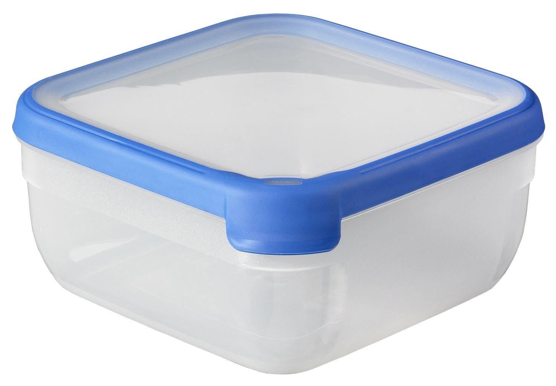 Vershouddoos Grandchef Vierkant 2,5 lt Transparant blauw Curver