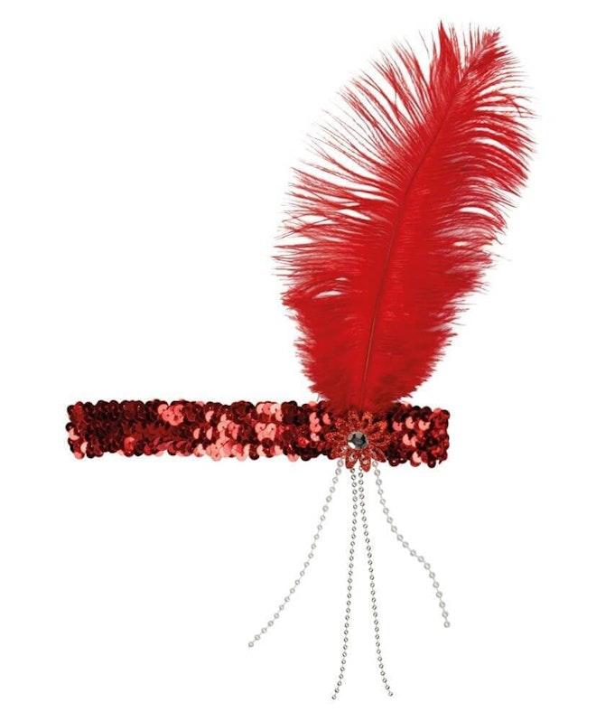 Hoofdband flapper rood