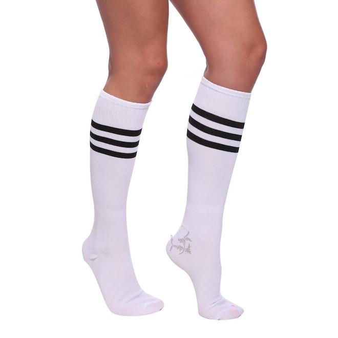 Cheerleader socks white black