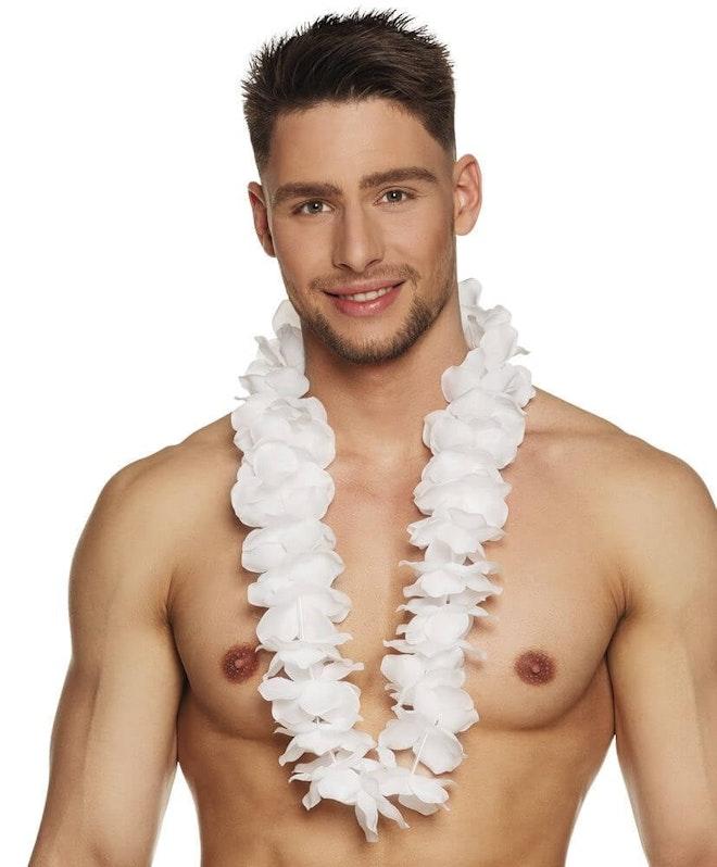 Hawaïkrans ohana wit