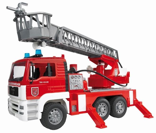 Bruder 027711 MAN Brandweerwagen met ladder, waterpomp en licht en geluid module