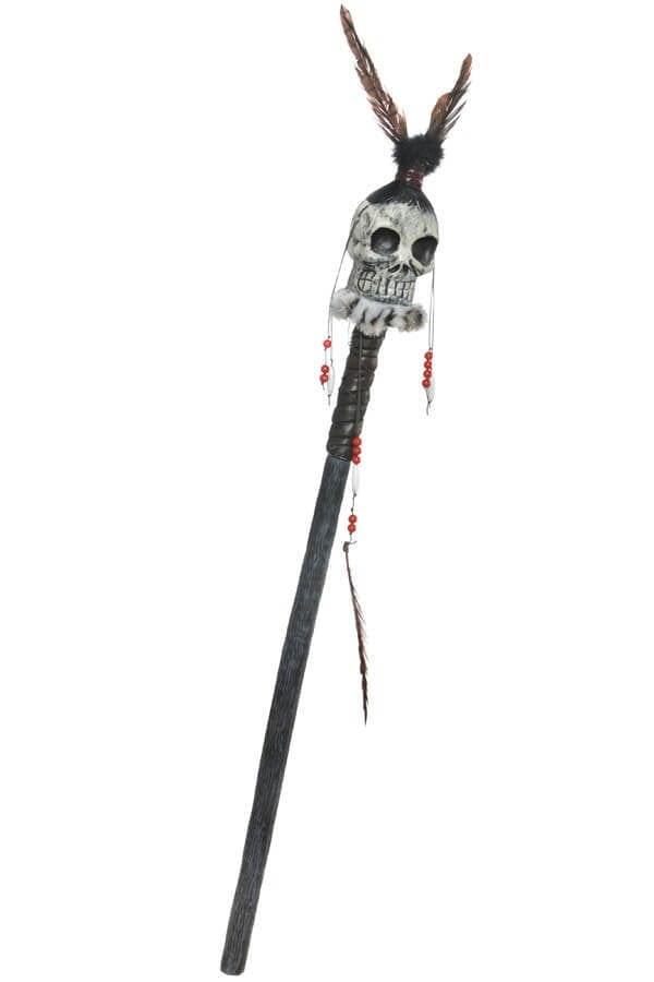 Voodoo staf met doodshoofd