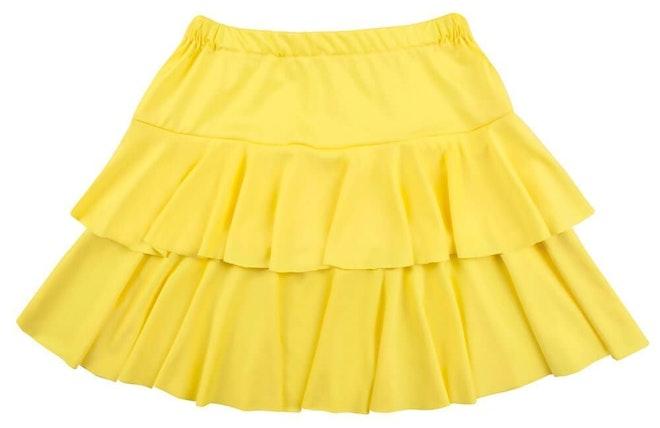 Minirok ruffles geel