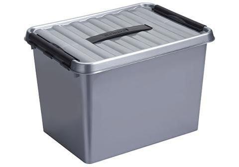 Sunware Q-line opbergbox 22 liter metaal-zwart