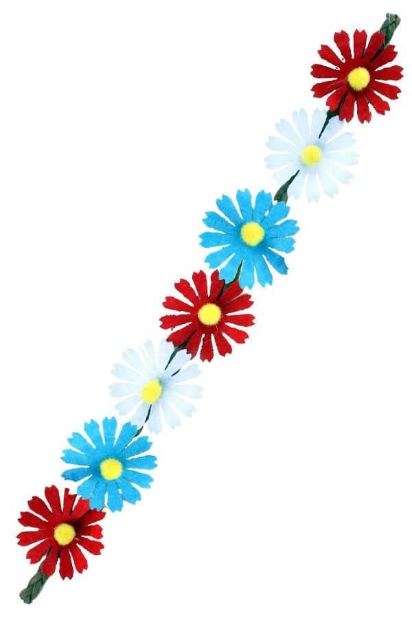 Hoofdbandje ibiza 7 bloemen