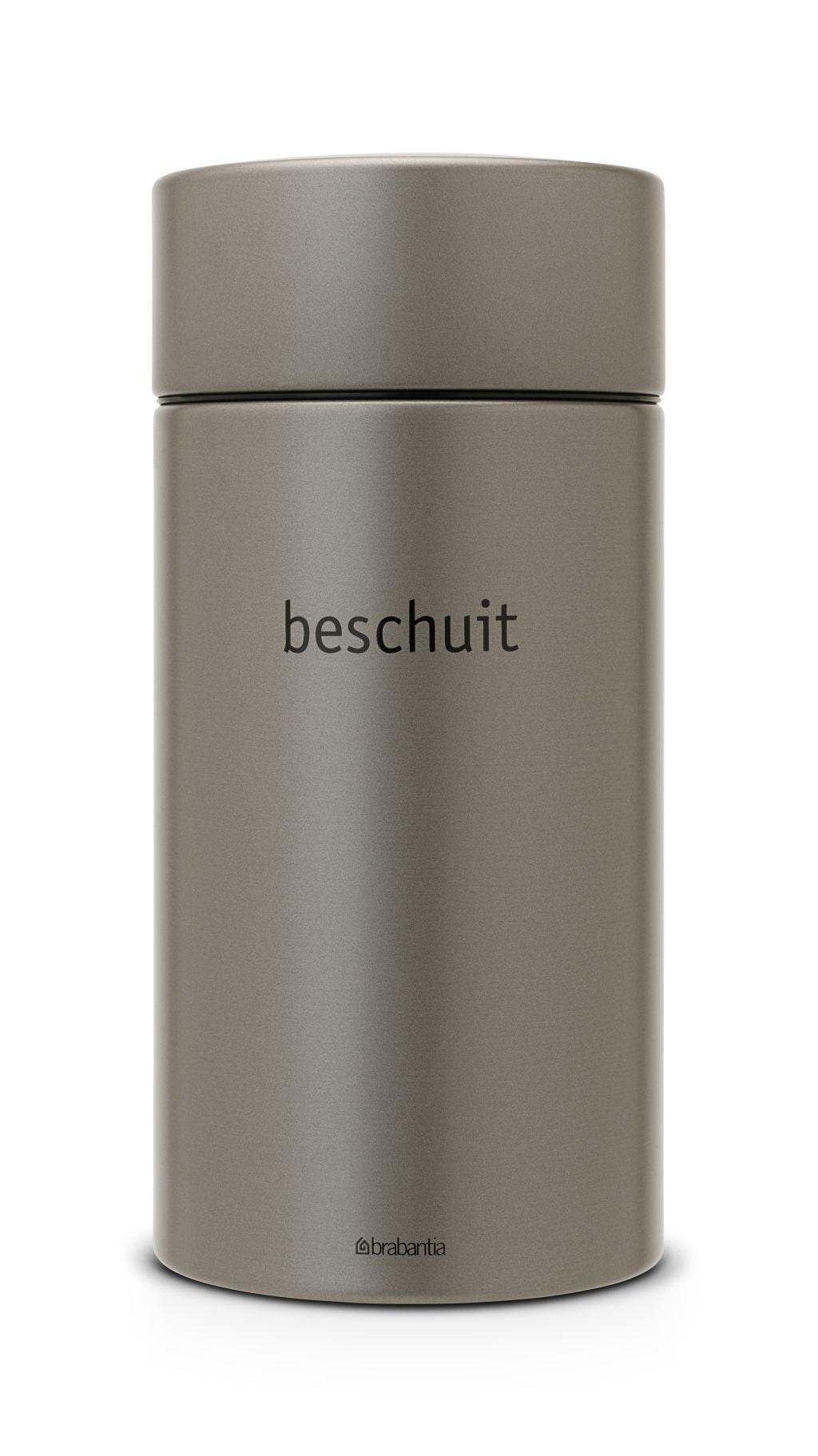 Brabantia beschuitbus 1,7 liter platinum