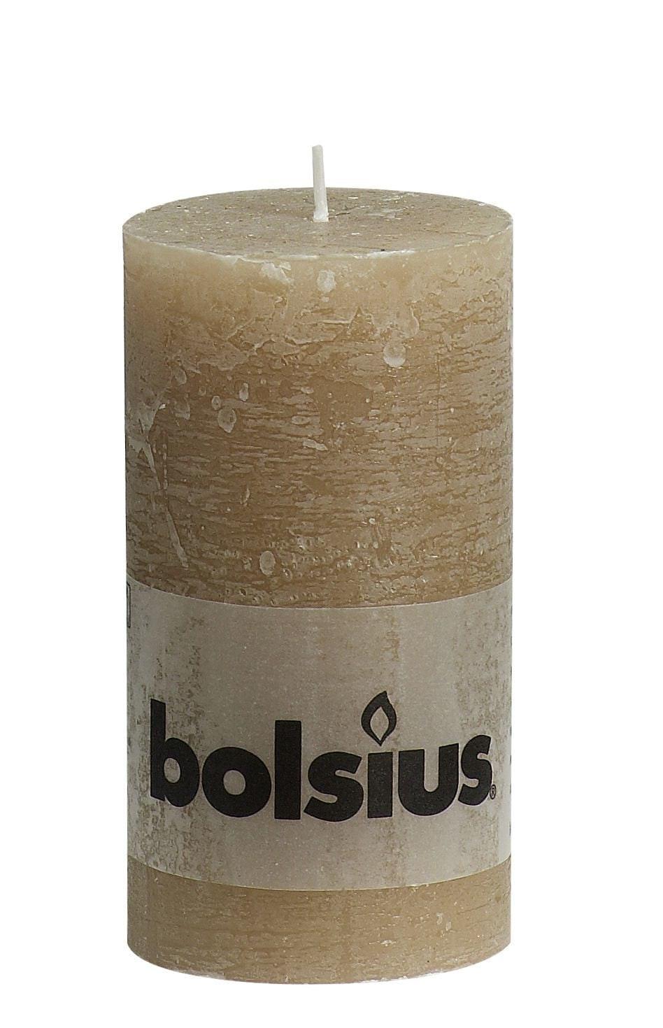 Bolsius Stompkaars rustiek Pastelbeige 130-68