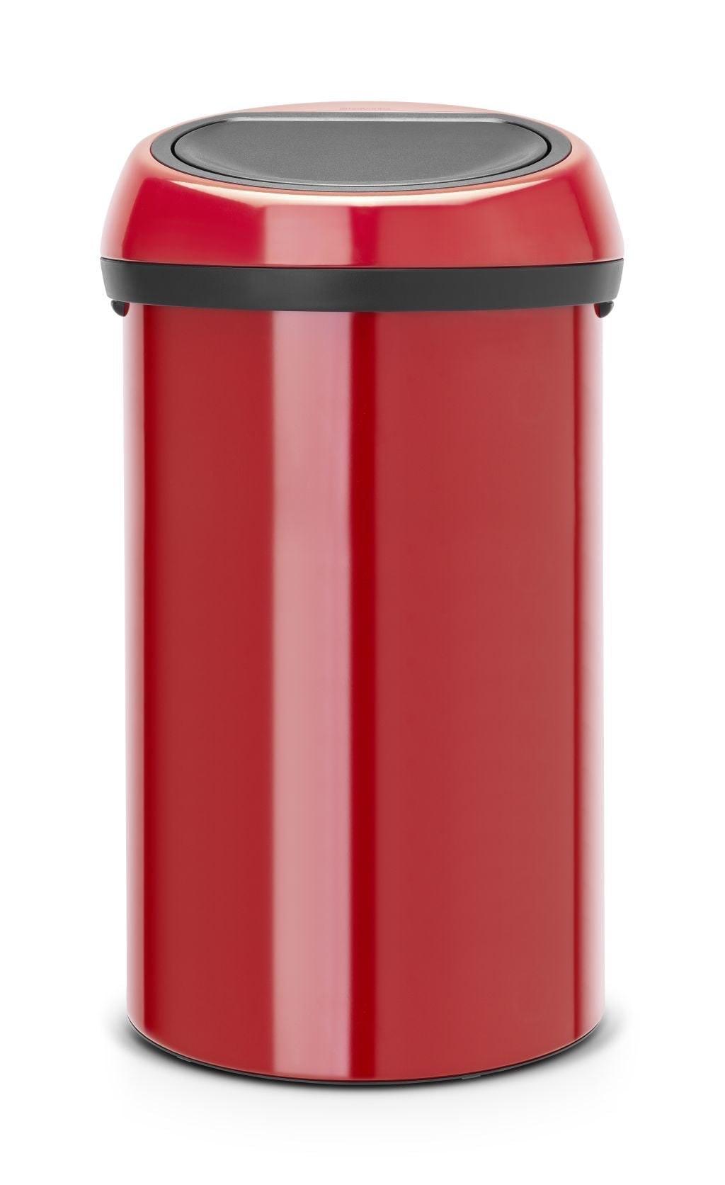 Brabantia Touch Bin Prullenbak 60 L Passion Red