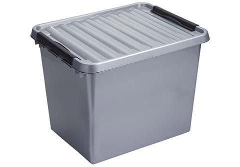 Sunware Q-line opbergbox 52 liter grijs-zwart
