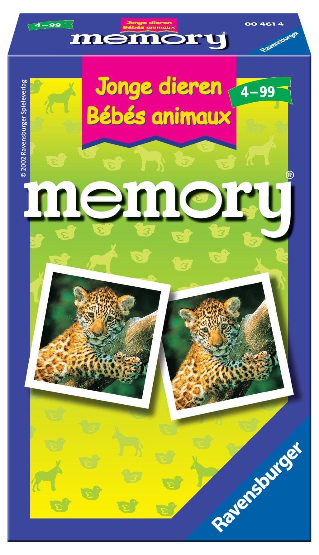 Memory Pocketspel Jonge Dieren