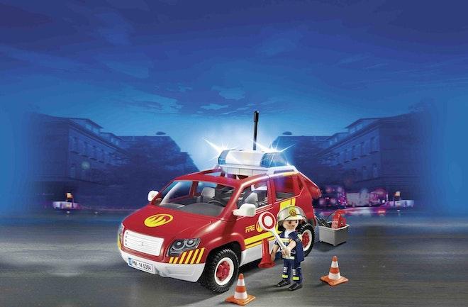 Playmobil® 5364 Brandweer commandant met dienstwagen met licht en sirene