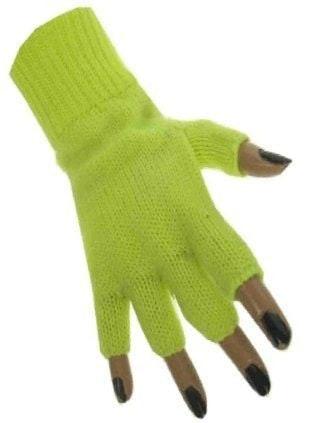 Handschoen vingerloos fluor geel