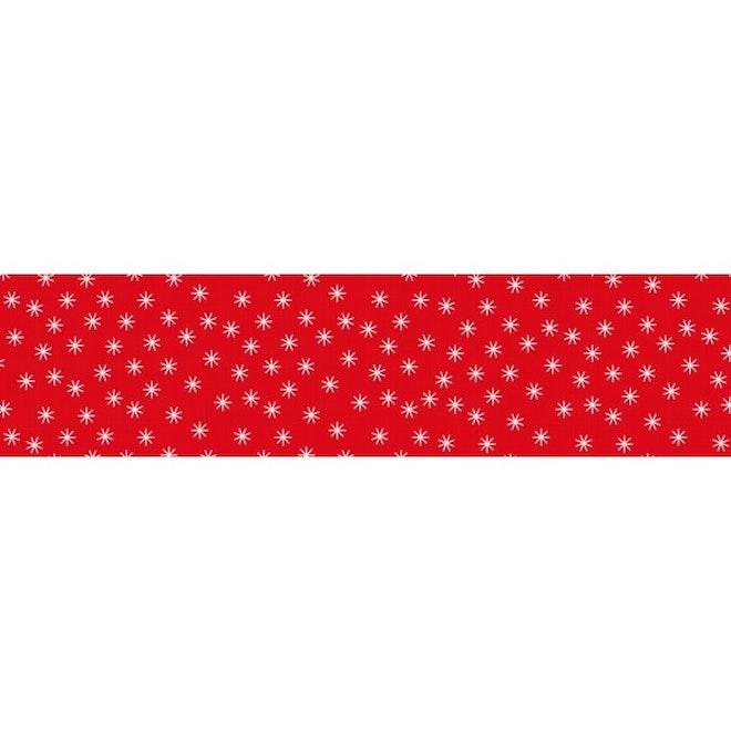 Damast papier ster rood 1.18 x 10 meter