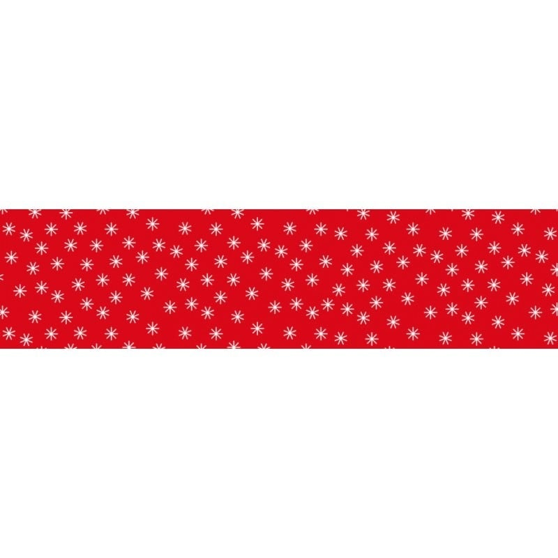 Damast papier Ster rood 1.18x10mtr.