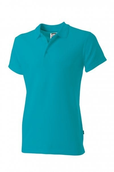 Poloshirt heren Fitted Turquoise