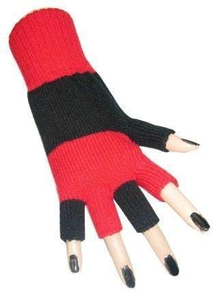 Handschoen vingerloos zwart-rood