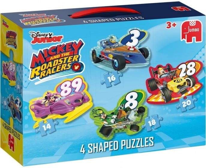 Mickey RR 4in1 Shaped Puzzle