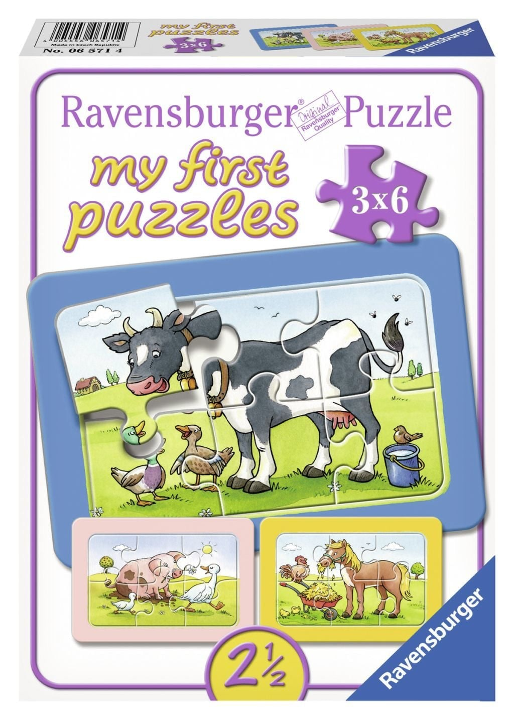 Puzzel Goede Vrienden: 3x6 Stukjes