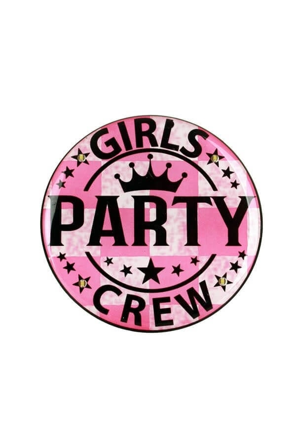 Light up button Girls Party Crew