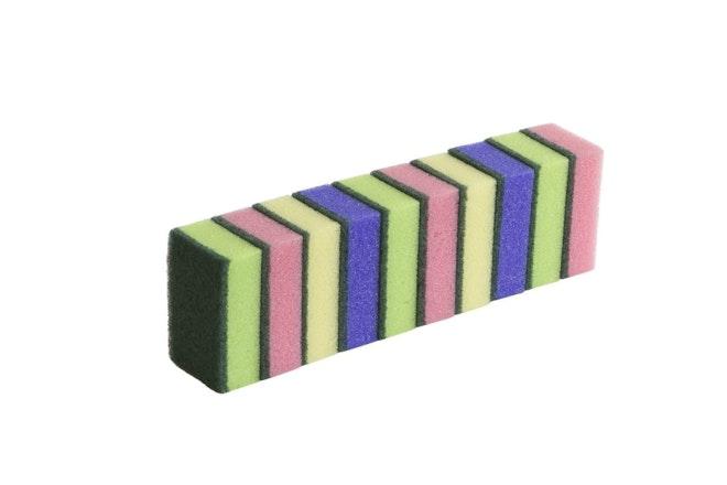 Schuurspons assorti kleuren set 10stuks