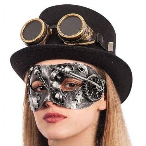 Steampunk silver mask op=op
