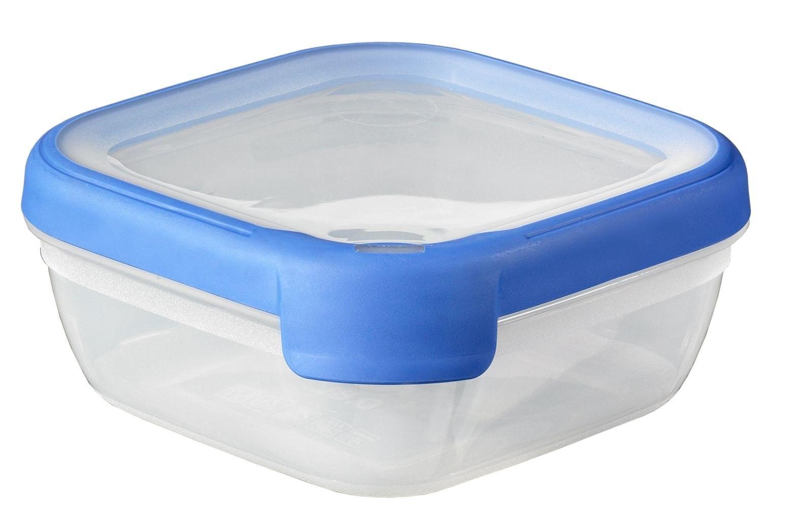Vershouddoos Grandchef Vierkant 0,75 lt Transparant blauw Curver