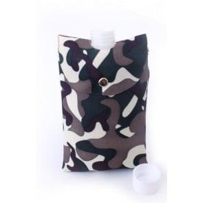 Camouflage buidel en drinkfles