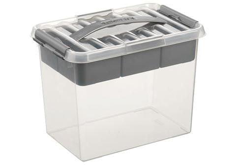 Sunware Q-line MultiBox 9 liter transp/metaal