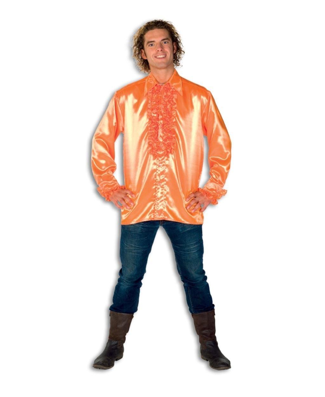 Heren Ruche Blouse Oranje