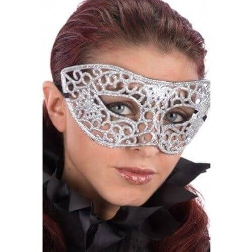 Zilver masker glitter