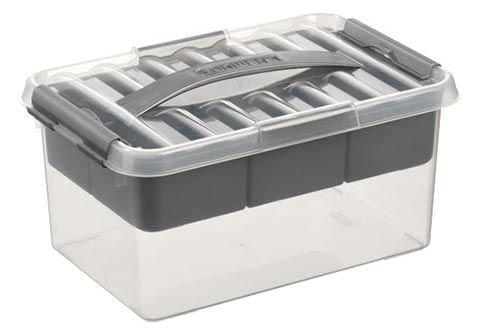 Sunware Q-line MultiBox 6 liter transp/metaal