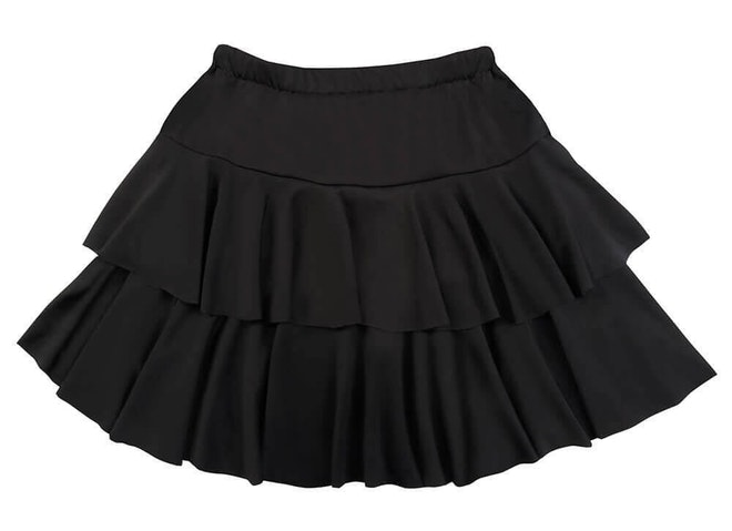 Minirok ruffles zwart