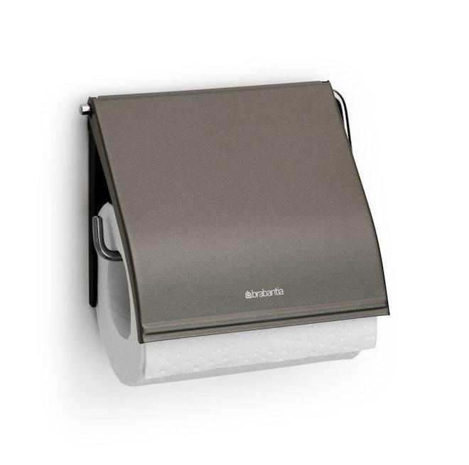 Brabantia toiletrolhouder met klep platinum
