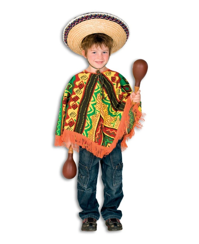 Mexicaanse Poncho op=op