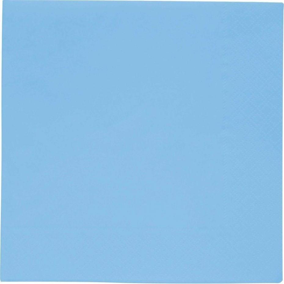 20 servetten 33x33cm blauw