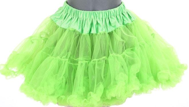 petticoat kort hot green