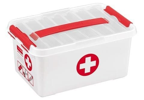 Sunware Q-line First Aid box 6L wit-rood