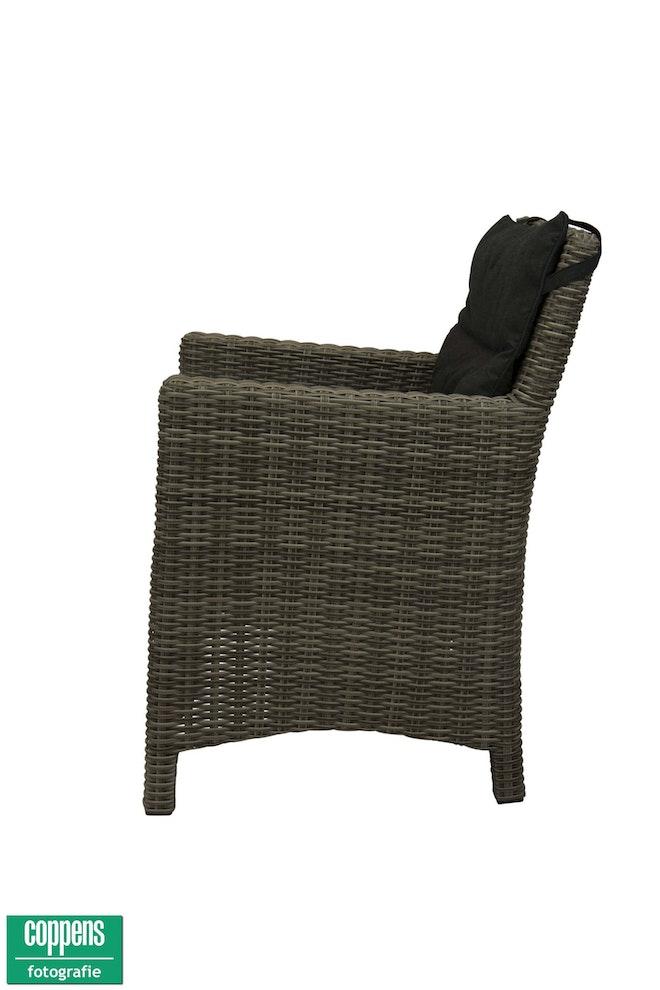Exclusief Oliva dining stoel HM paloma grijs met rug kussen