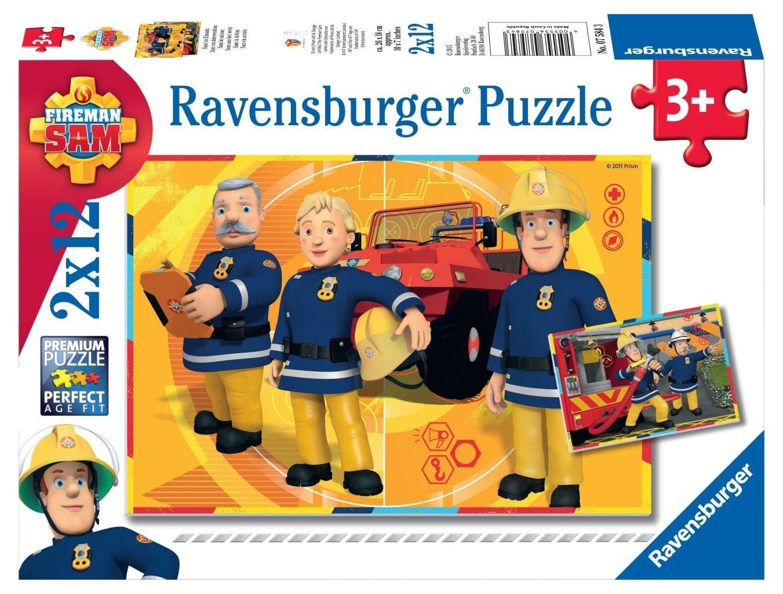 Ravensburger puzzel Brandweerman Sam aan het werk 2 x 12 stukjes