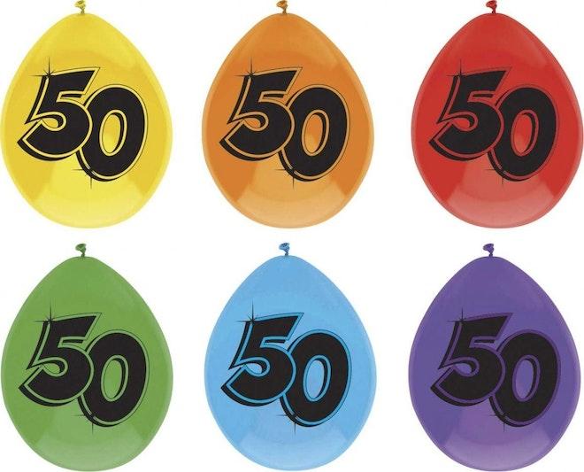 Ballon leeftijd 6 stuks 50 jaar