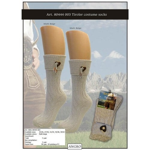 Tiroler costume socks