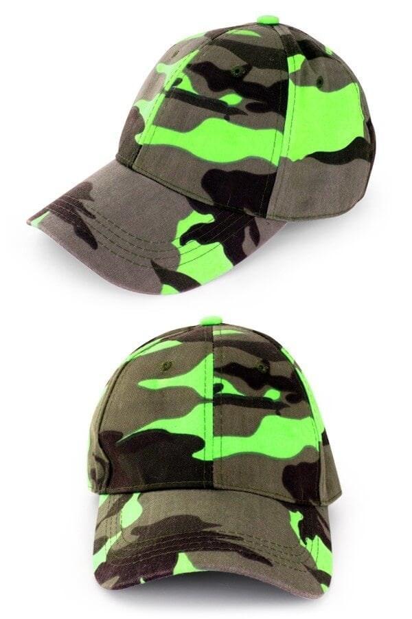 Pet camouflage neon groen