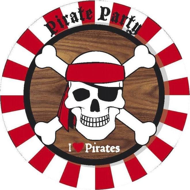 Borden Piraten 8 stuks