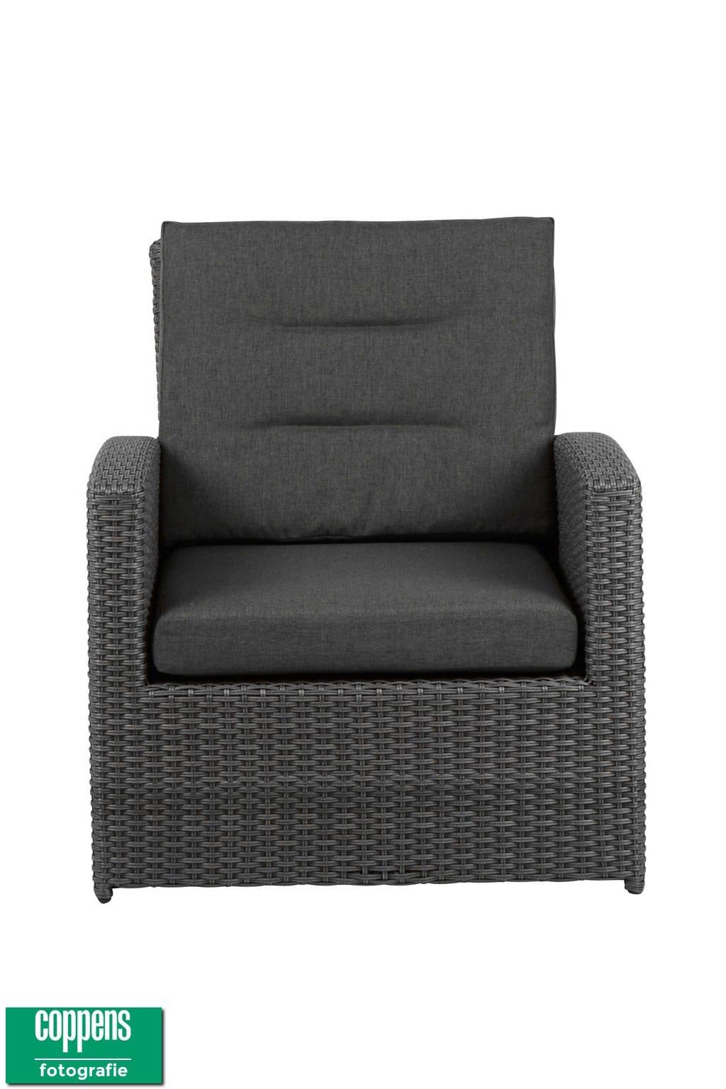 Exclusief Dubai lounge stoel antraciet