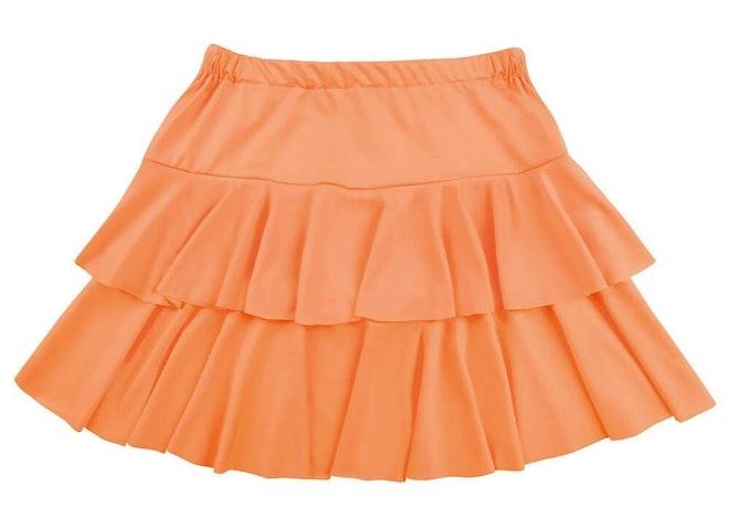 Minirok ruffles oranje