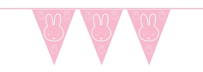 Vlaggenlijn Nijntje baby roze 10 m