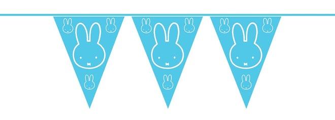 Vlaggenlijn Nijntje baby blauw 10 meter