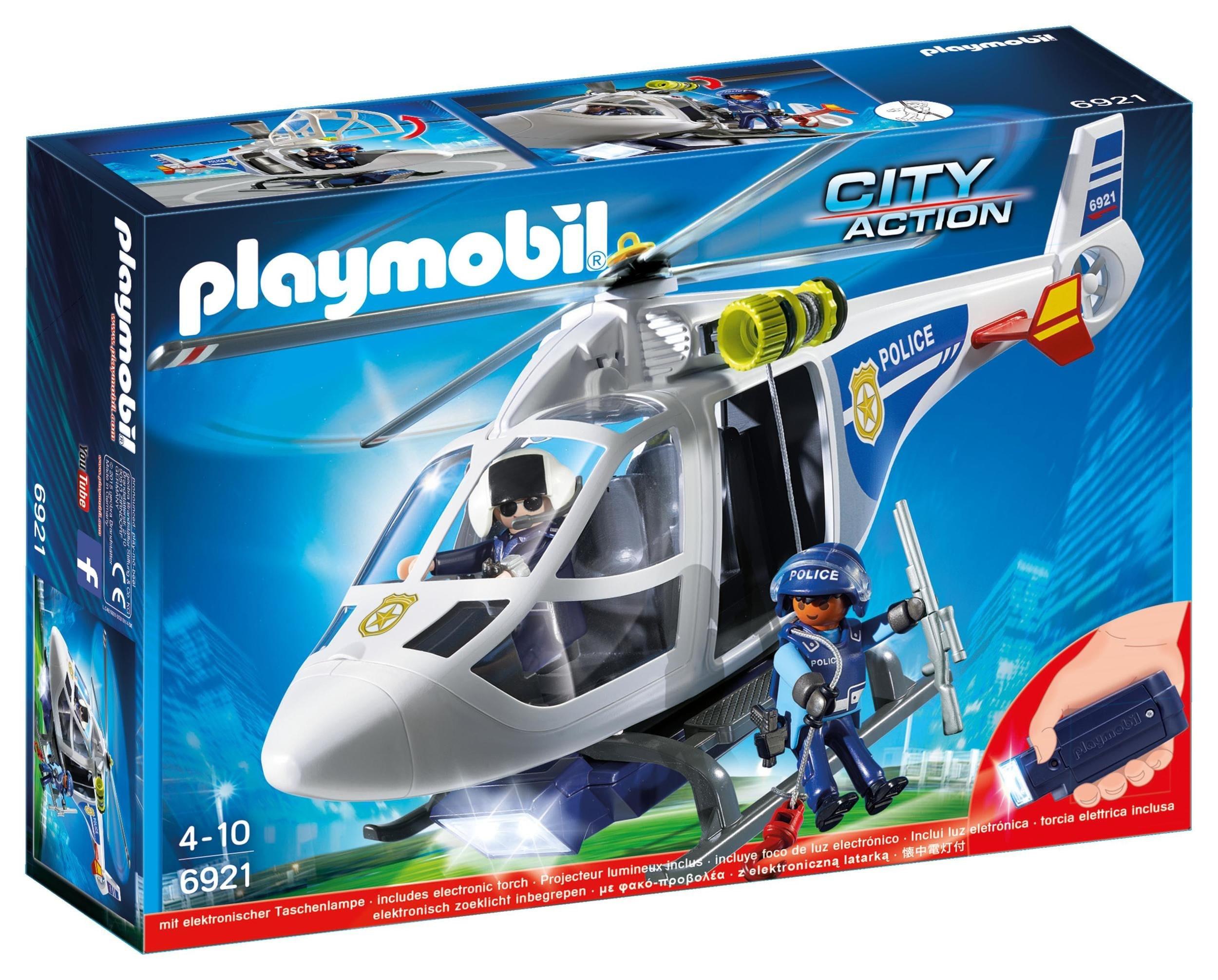 Politiehelikopter met LED-zoeklicht Playmobil (6921)